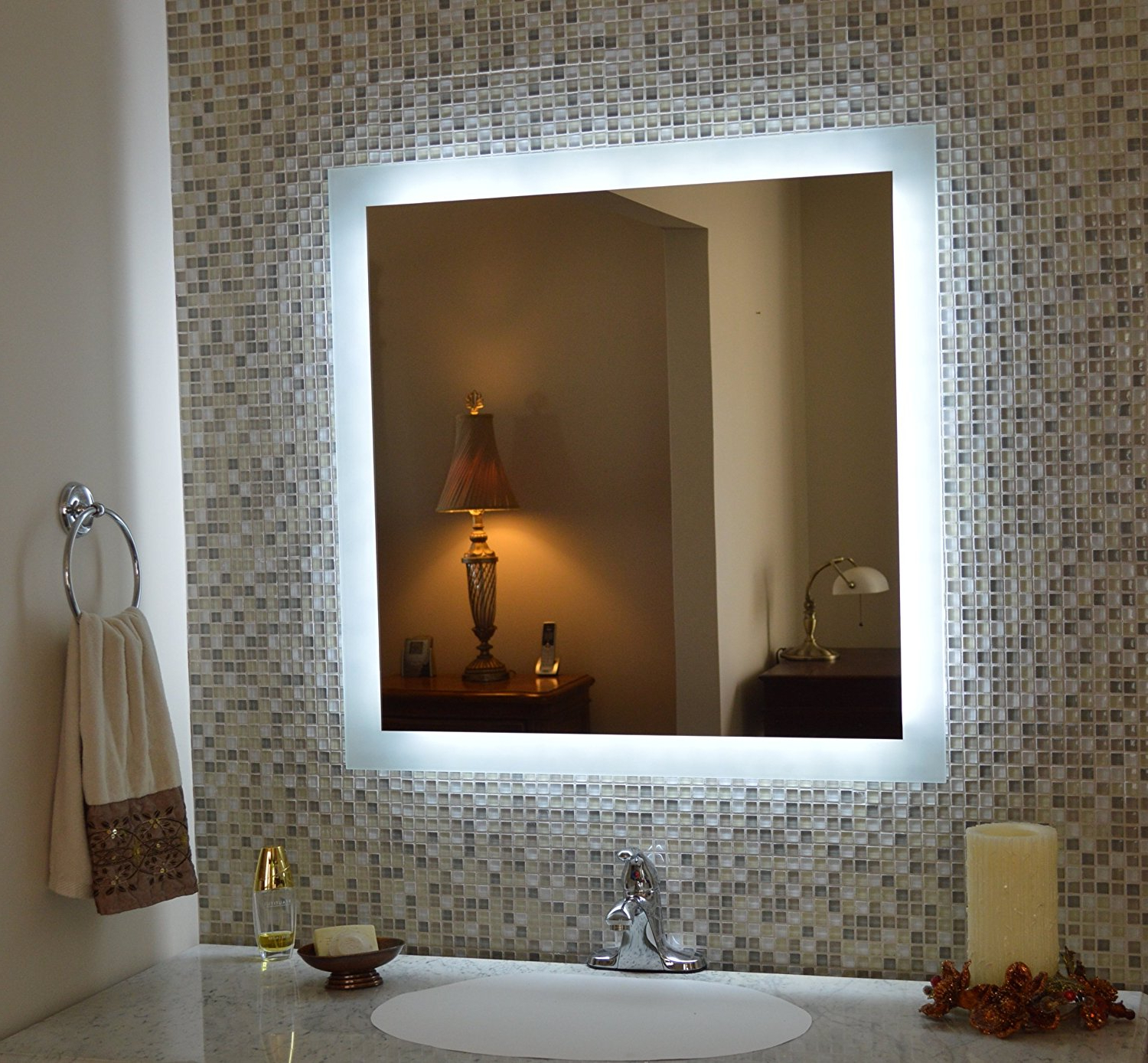 Most Up To Date Lighted Wall Mirrors For Bathrooms For Led Mirror (View 20 of 20)