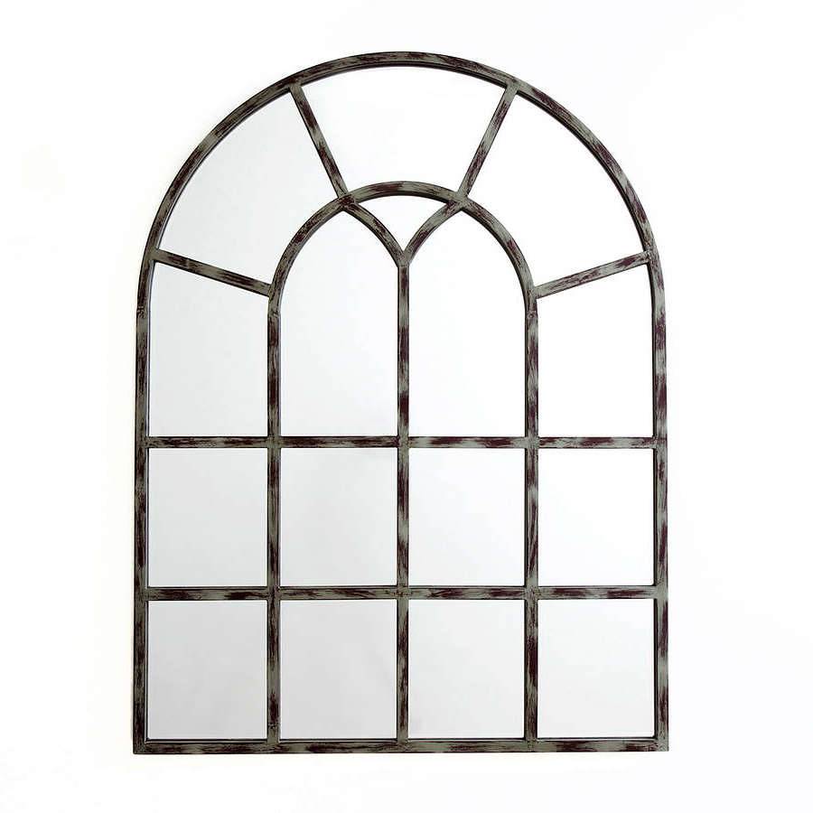 Most Up To Date Metal Arch Window Wall Mirrors Inside Wonderful Window Mirror (Gallery 14 of 20)