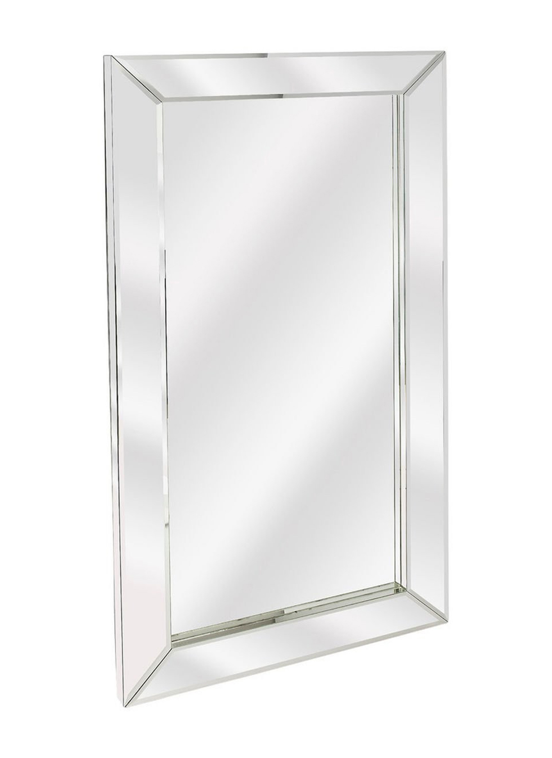 Most Up To Date Modern Rectangle Wall Mirrors In Offex Modern Rectangular Emerson Mirrored Wall Mirror – Clear – Clear (View 3 of 20)