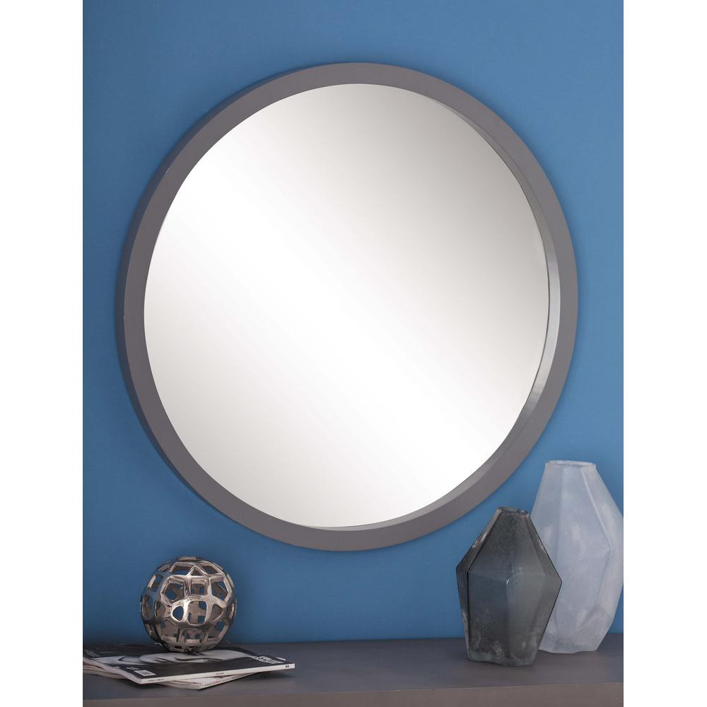 Most Up To Date Modern Round Wall Mirrors Pertaining To 32 In (View 16 of 20)