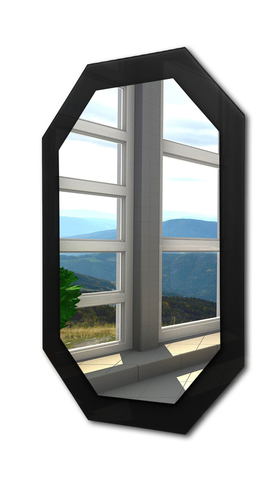 Most Up To Date Octagon Wall Mirrors Regarding Deep Black Octagon Wall Mirror (View 13 of 20)