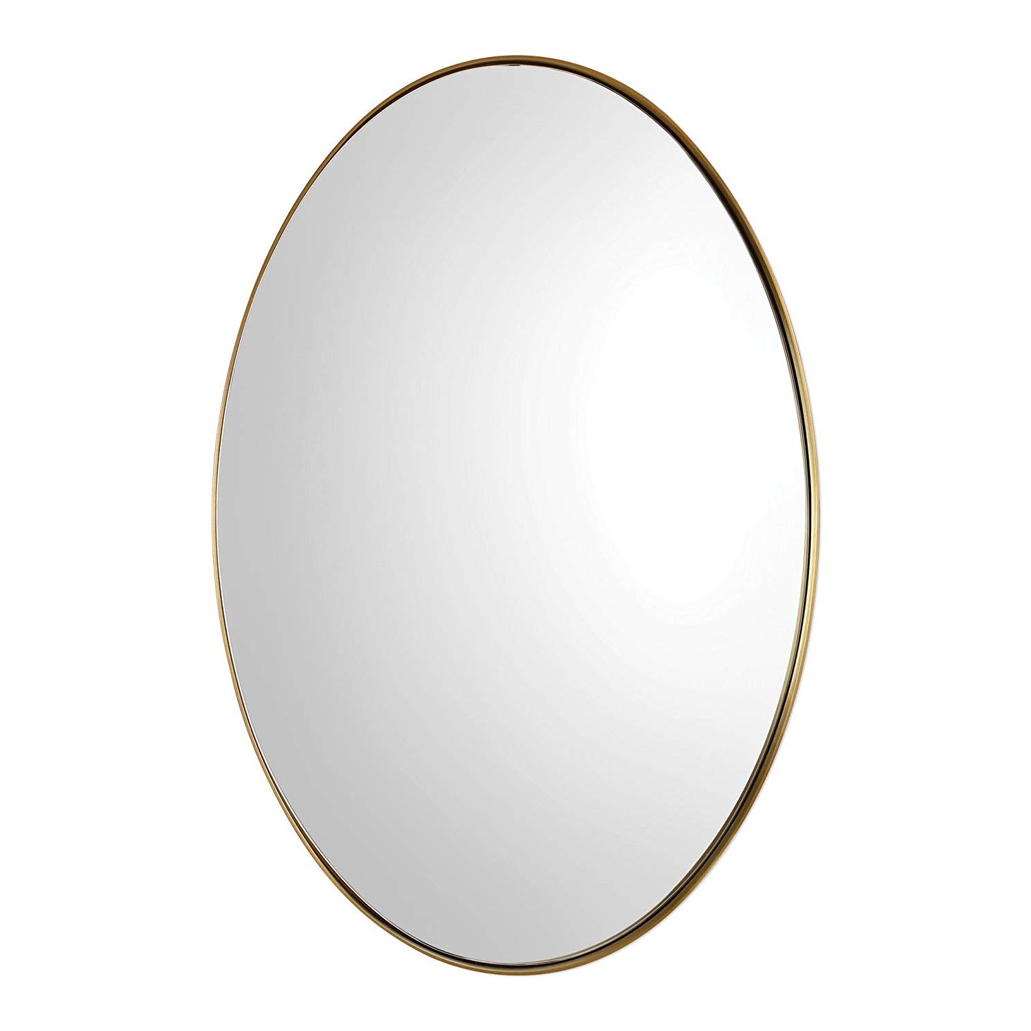 Most Up To Date Oval Wall Mirrors Regarding Amazon: My Swanky Home Deep Profile Classic Brass Oval Wall (View 13 of 20)