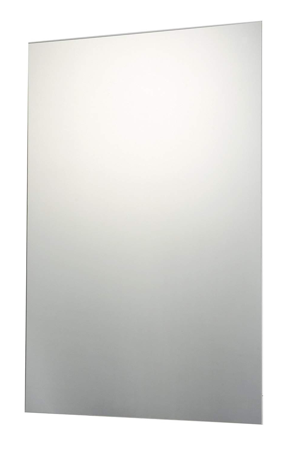 Most Up To Date Plain Wall Mirrors For 60 X 90Cm Plain Frameless Bathroom Rectangle Mirror With Wall Fixings (View 4 of 20)