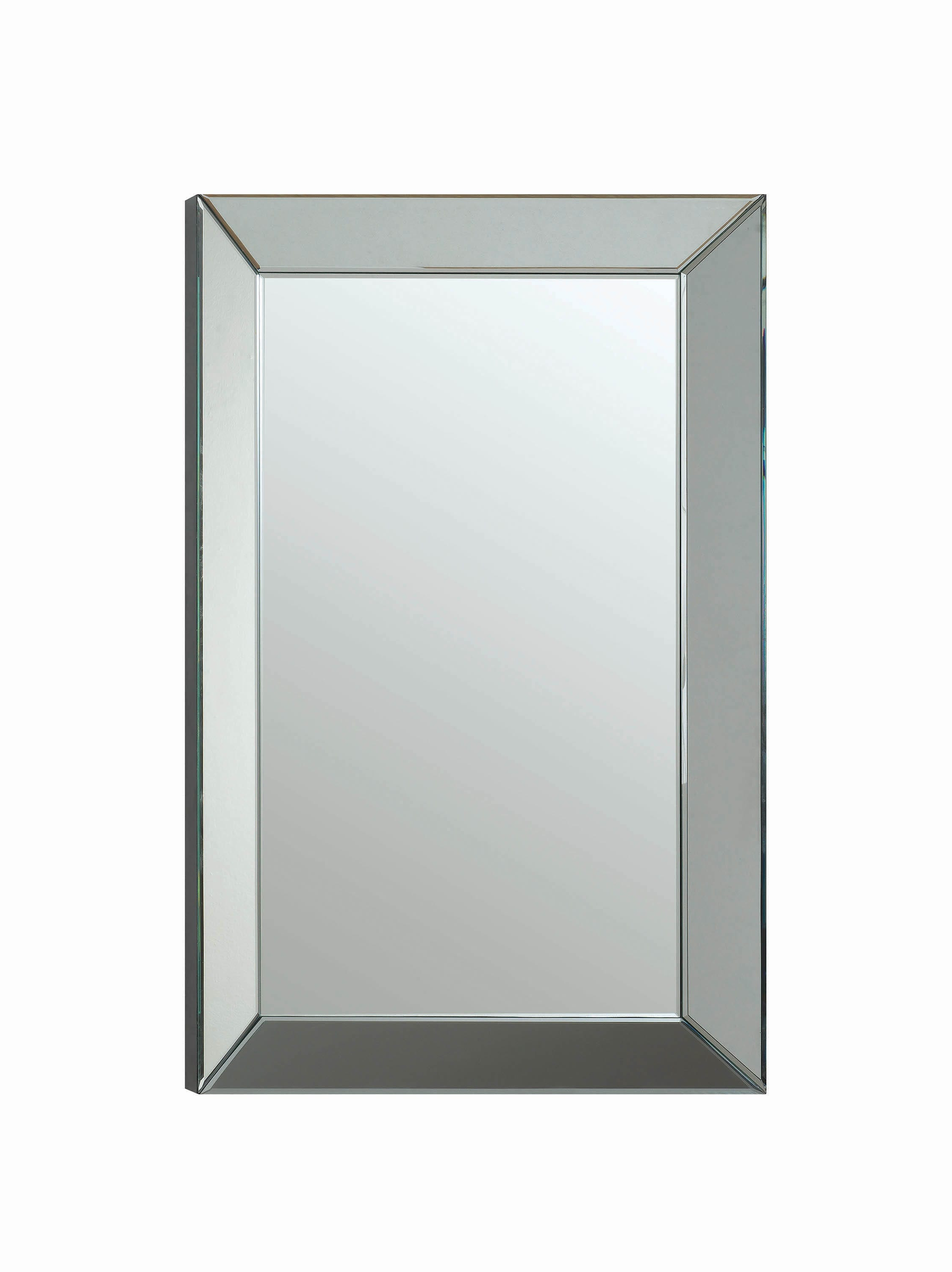 Most Up To Date Rectangle Accent Mirrors Within Transitional Rectangle Accent Mirrorcoaster (View 10 of 20)