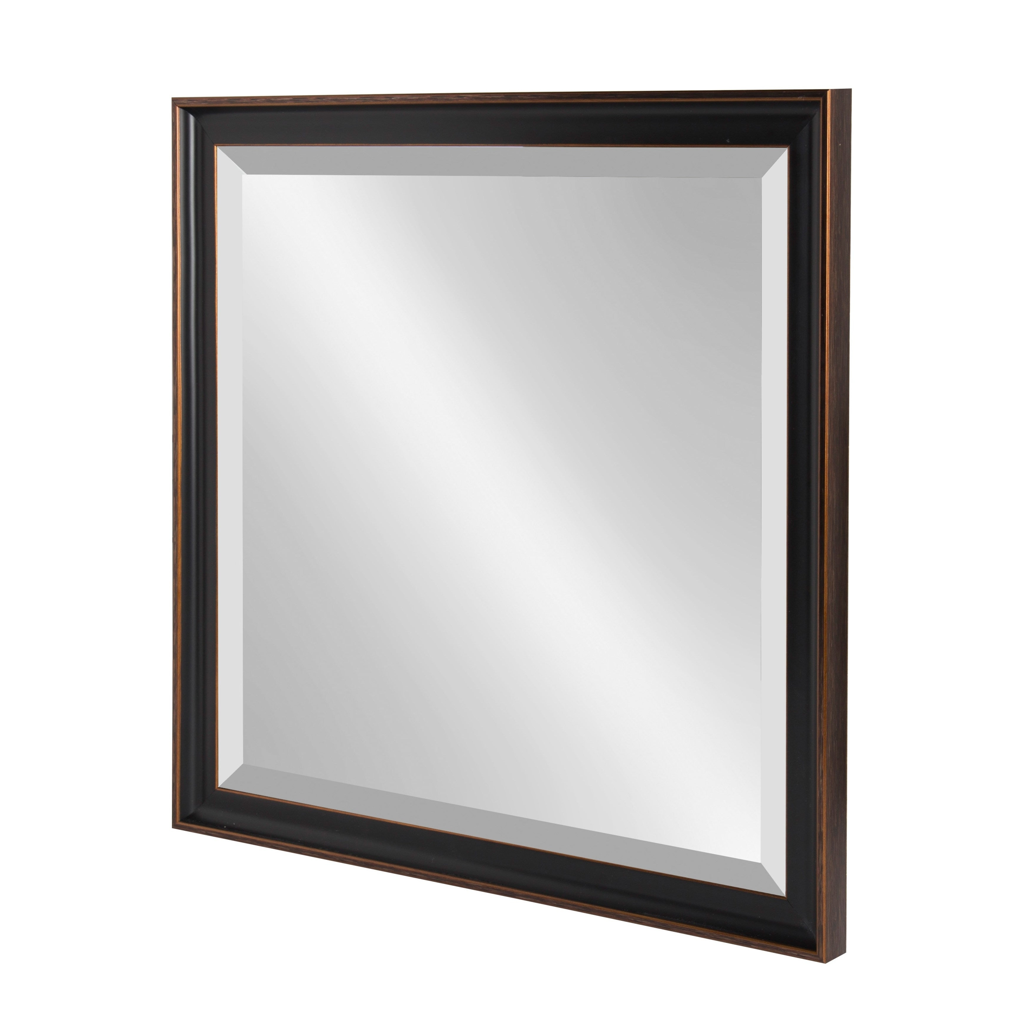 Most Up To Date Rectangle Plastic Beveled Wall Mirrors Throughout Kate And Laurel Havana Framed Beveled Wall Mirror – Antique Bronze (View 7 of 20)