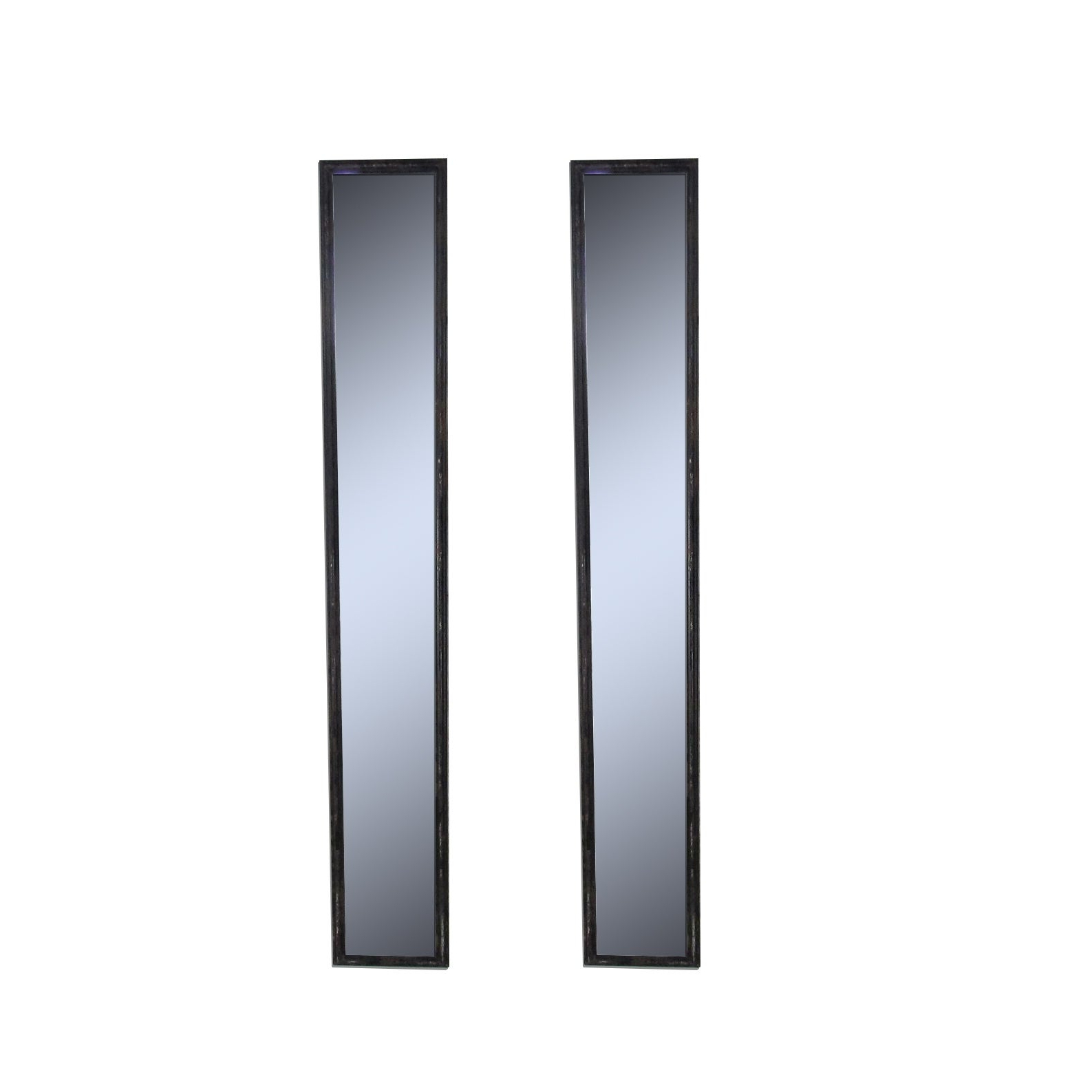 Most Up To Date Reflecting Pair 2 Antique Black Vertical Wall Mirrors, Set Of 2 Within Vertical Wall Mirrors (View 13 of 20)