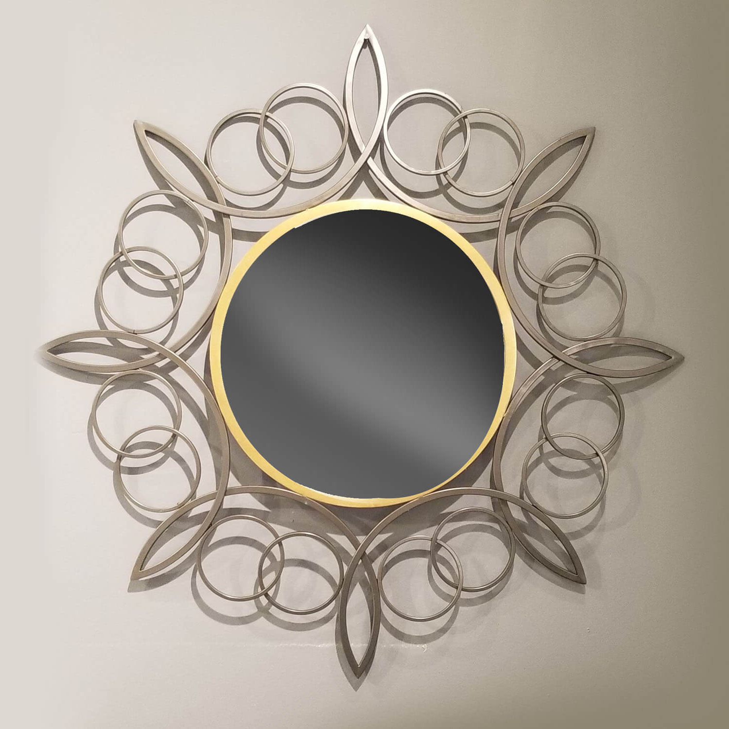 "Most Up To Date Swirl Wall Mirrors Pertaining To Intricate Swirl 35.4""h Iron Wall Mirror (Gallery 9 of 20)"