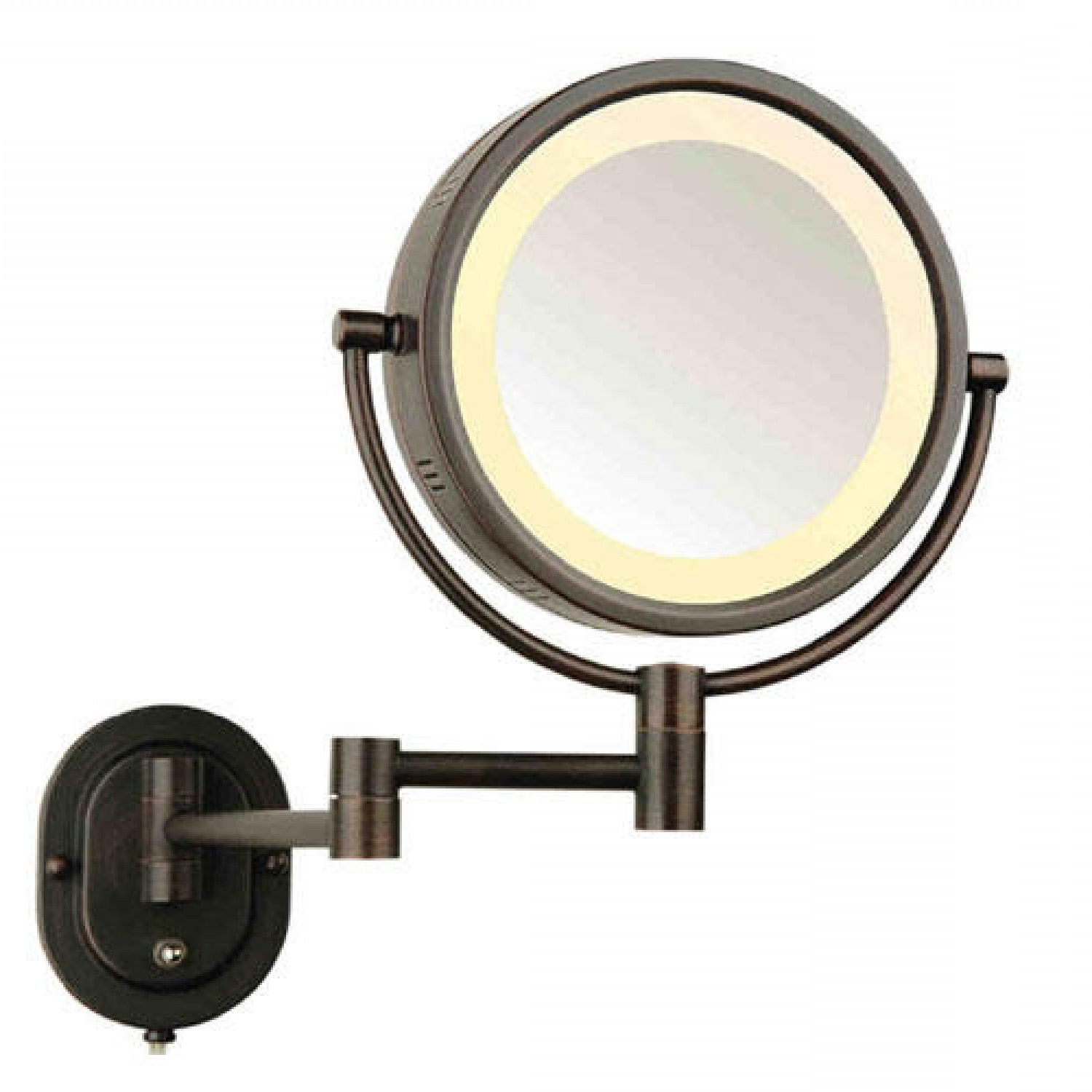 Most Up To Date Top 44 Supreme Bz Bathroom Magnifying Mirror Halo Swinging Lighted For Extendable Wall Mirrors (Gallery 17 of 20)