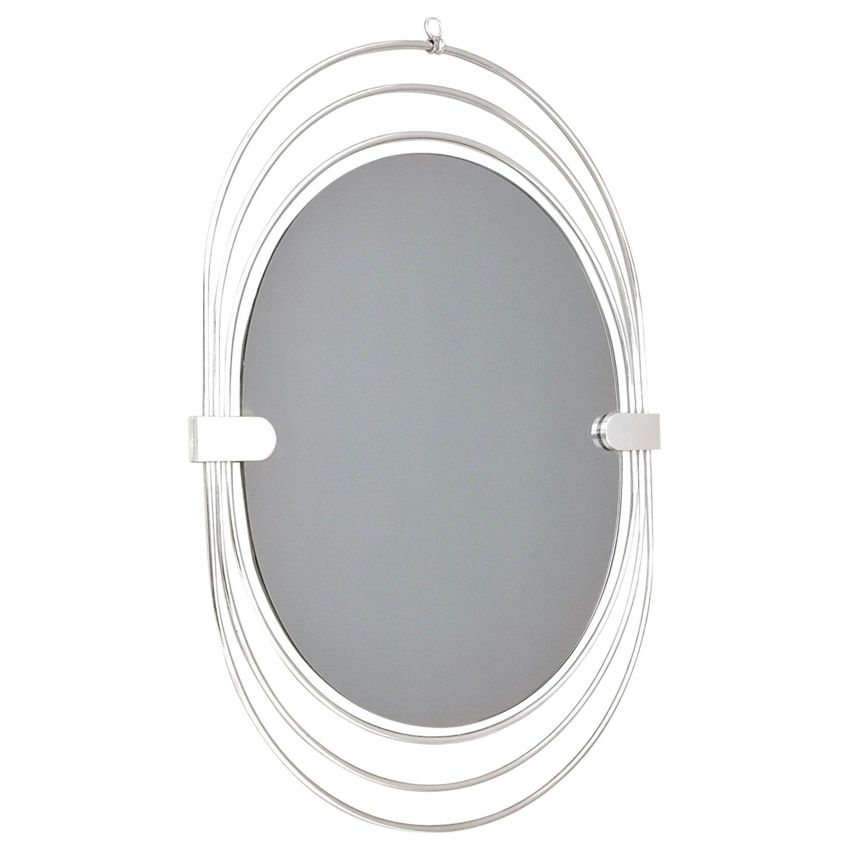 Most Up To Date Triple Oval Wall Mirrors With Oval Smoked Wall Mirror With A Triple Chrome Plated Metal Frame, Italy,  1970S (View 14 of 20)