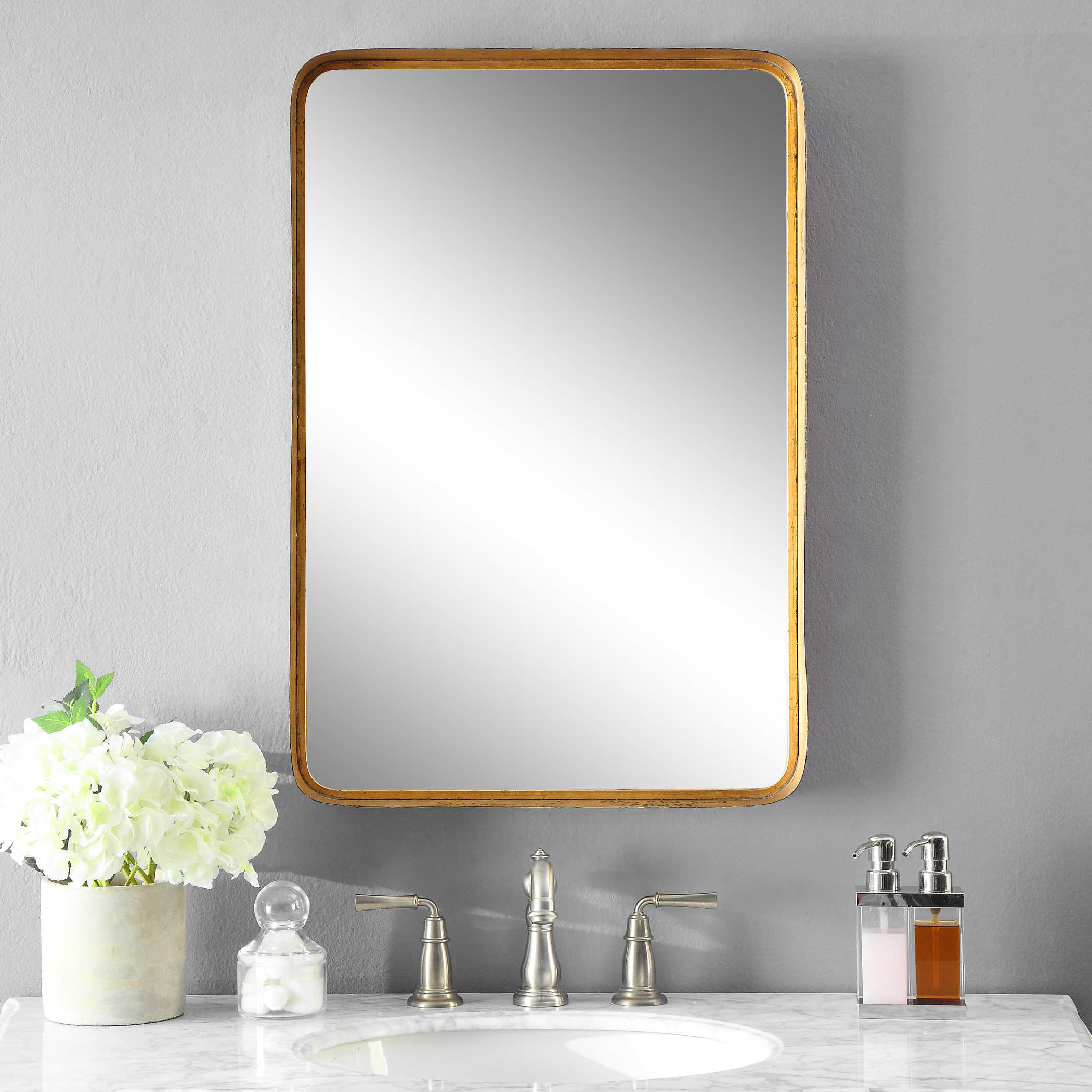 Most Up To Date Uttermost Wall Mirrors In Uttermost Crofton Antique Gold Mirror (View 9 of 20)