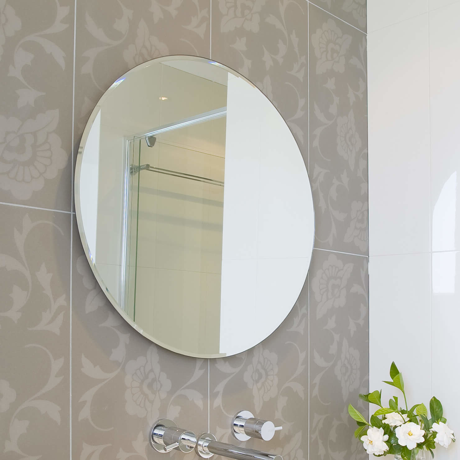 Most Up To Date Wall Mirrors With Hooks Within Beveled Polished Frameless Wall Mirror With Hooks (View 11 of 20)