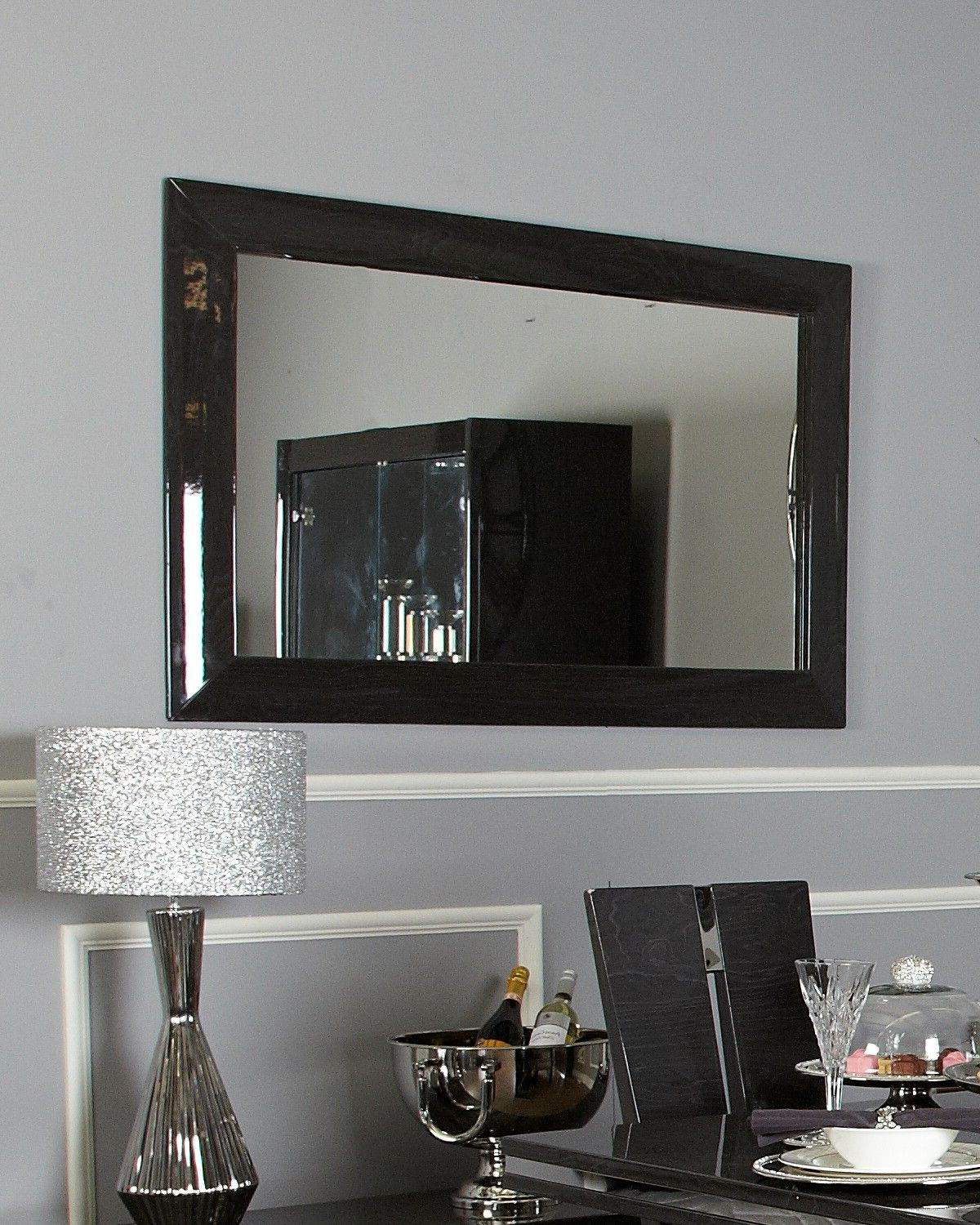 Most Up To Date Walnut Wall Mirrors For Aura Dark Grey Walnut Wall Mirror (View 18 of 20)