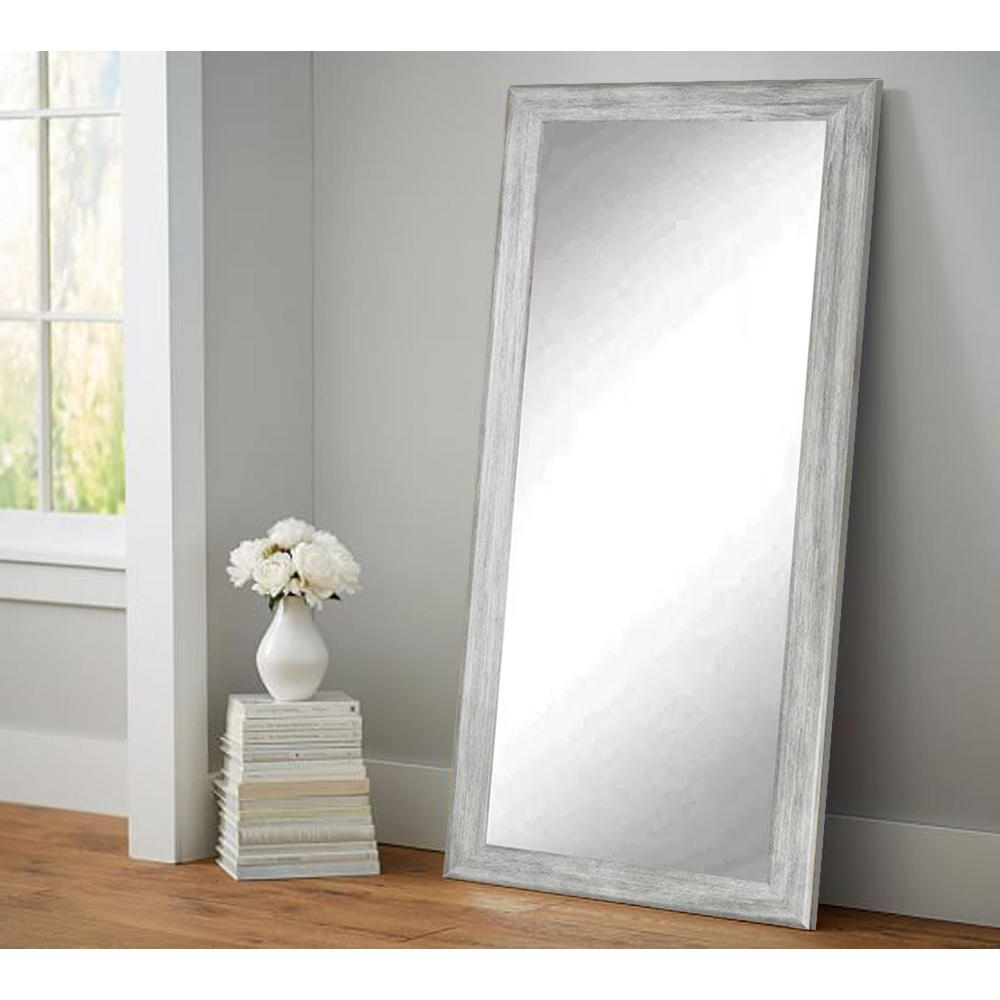 Most Up To Date Weathered Gray Full Length Floor Wall Mirror With Regard To Gray Wall Mirrors (View 3 of 20)