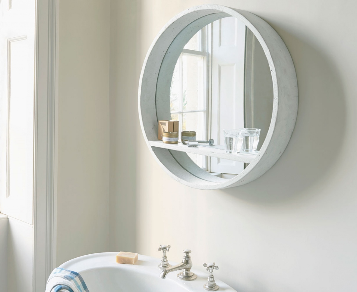 Most Up To Date White Round Wall Mirrors With Hula Mirror In White Round Wall Mirror — Rabbssteak House : Round (View 3 of 20)