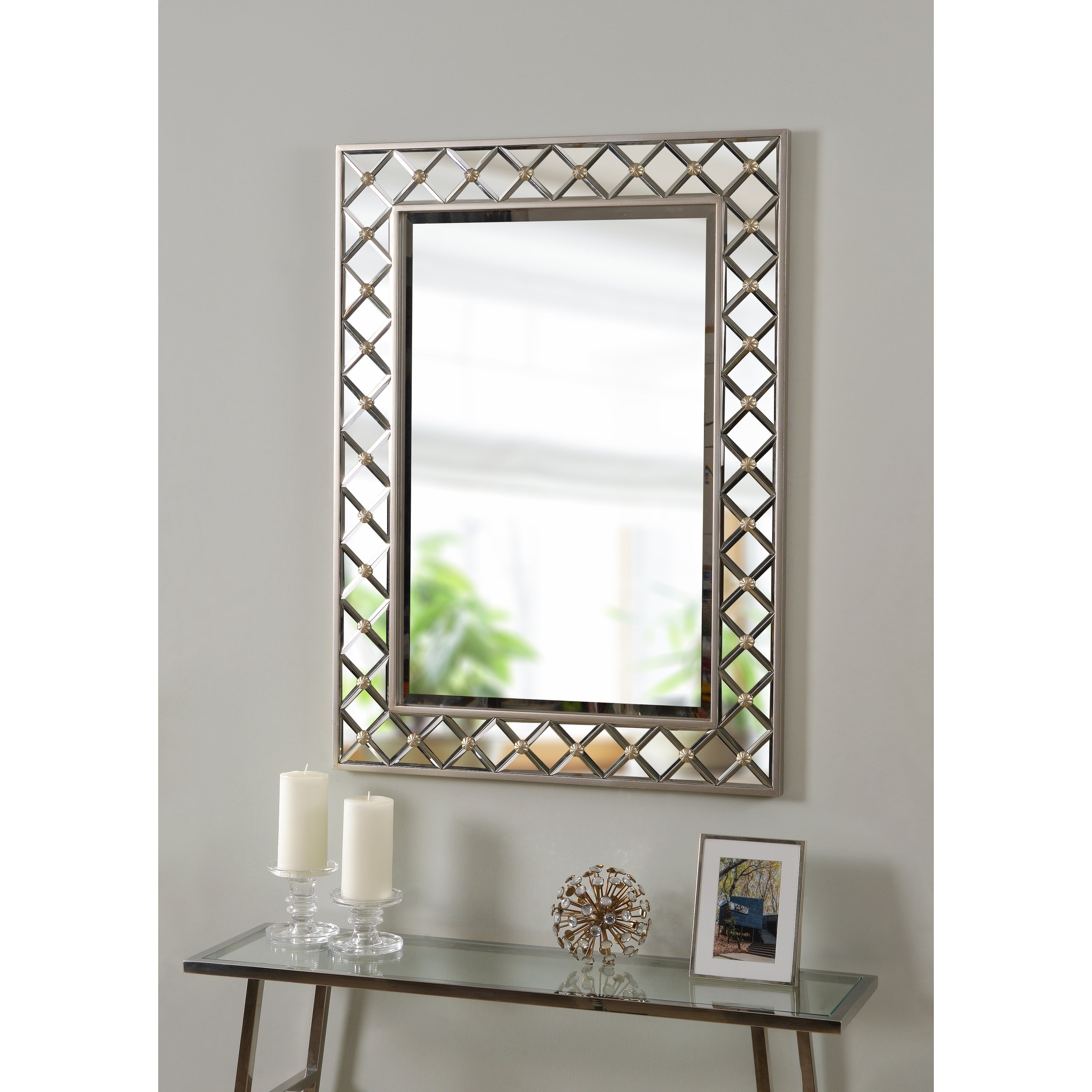 """Myles 38"""" Rectangular Champagne Wall Mirror With Regard To Latest Champagne Wall Mirrors (View 7 of 20)"""