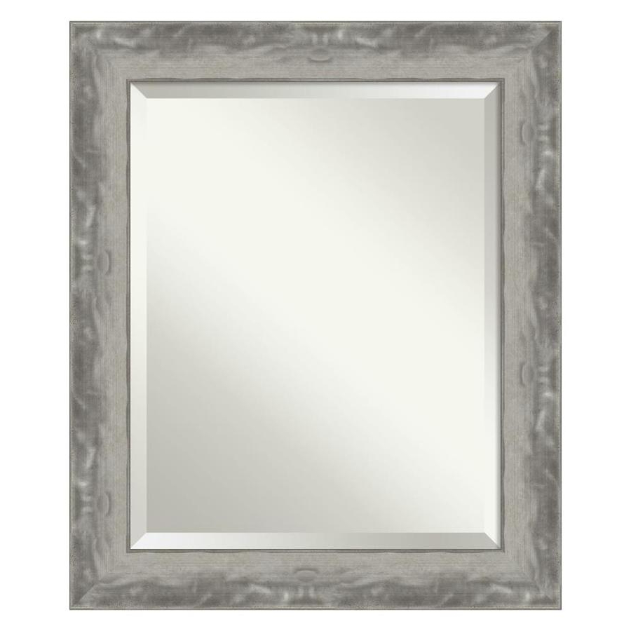 Narrow Wall Mirrors Intended For Most Recent Amanti Art Waveline Silver Narrow Bathroom Vanity Wall Mirror At (Gallery 13 of 20)