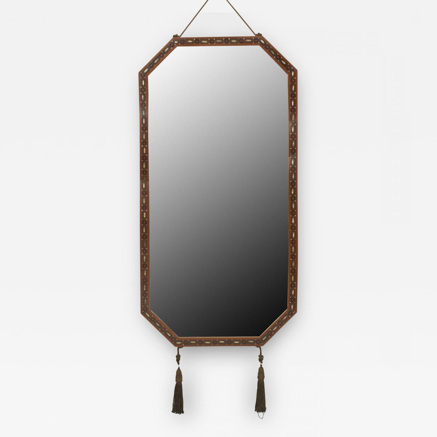 Narrow Wall Mirrors Within Newest Maurice Dufrène – French Art Deco Mahogany Horizontal 8 Sided Narrow Wall  Mirror (Gallery 11 of 20)