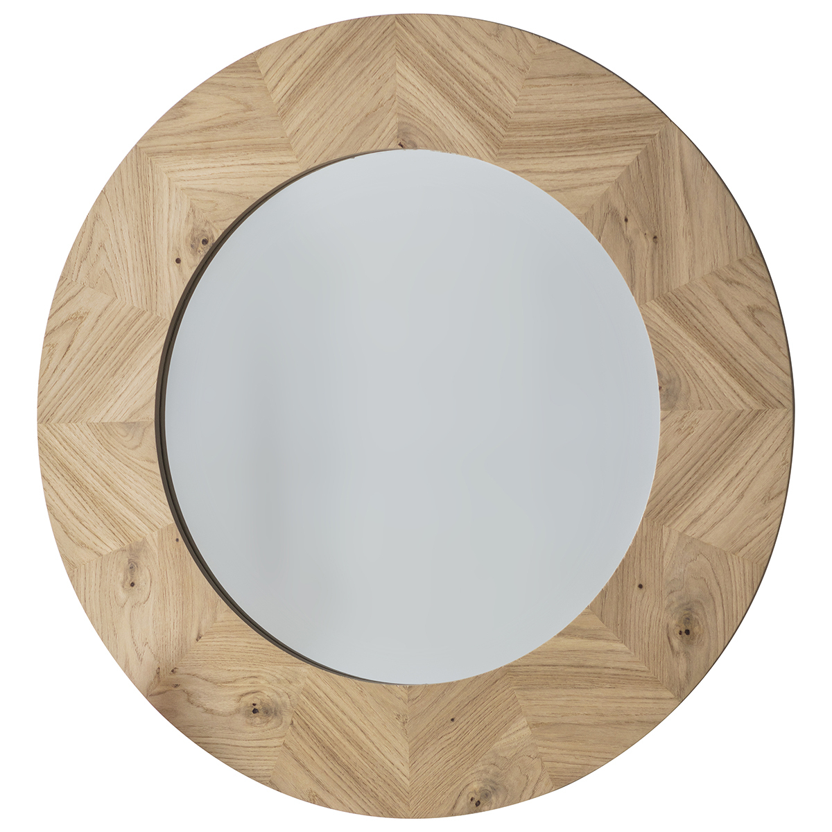 Natural Manny Round Wooden Wall Mirror With Regard To Most Up To Date Round Wood Wall Mirrors (View 14 of 20)