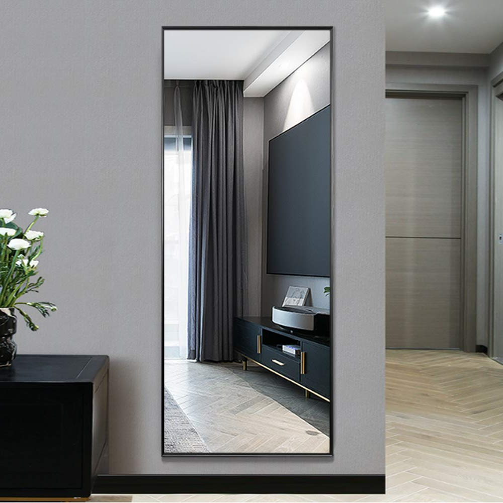 Neutype Full Length Mirror Standing Hanging Or Leaning Against Wall, Large Rectangle Bedroom Mirror Floor Mirror Dressing Mirror Wall Mounted Mirror, For Favorite Standing Wall Mirrors (View 8 of 20)