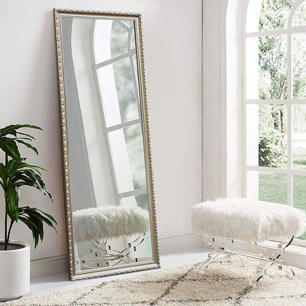 Neutype Full Length Mirror Standing Hanging Or Leaning Against Wall, Large Rectangle Bedroom Mirror Floor Mirror Dressing Mirror Wall Mounted Mirror, With Famous Leaning Wall Mirrors (View 3 of 20)