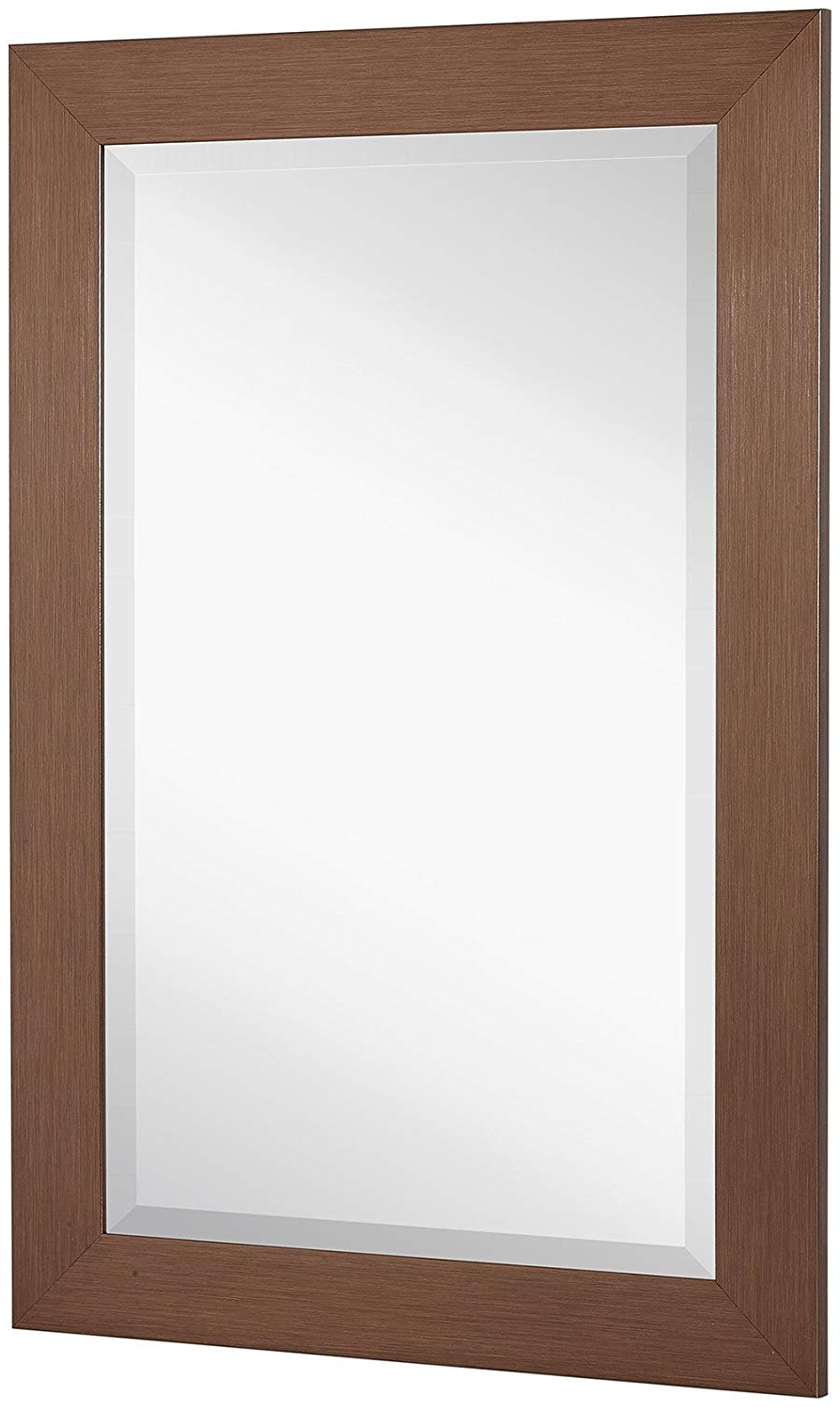 New Bronze Copper Modern Metallic Look Rectangle Wall Mirror (View 14 of 20)