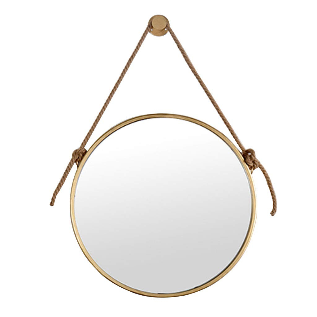 Newest Amazon: Hyxi_Mirror Wall Mirror Hanging Round Antique Vertical With Regard To Vertical Round Wall Mirrors (Gallery 18 of 20)