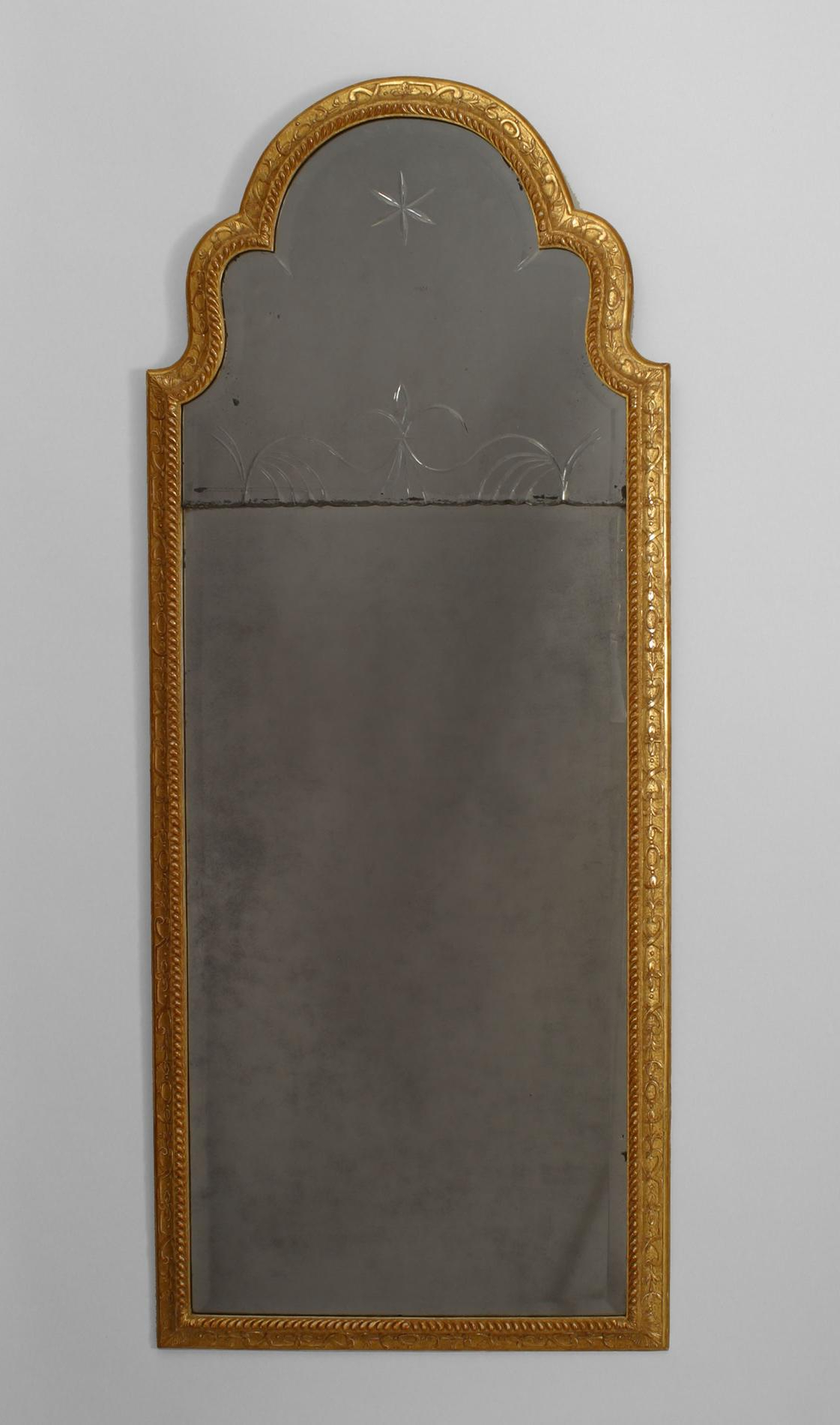 Newest Arch Top Vertical Wall Mirrors With Early 18Th C. English Queen Anne Gilt Wall Mirror, C (View 15 of 20)