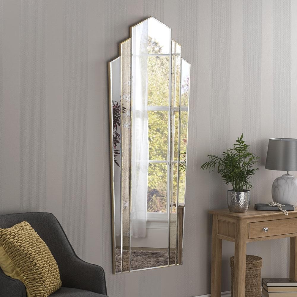 Newest Art Deco Venetian Wall Mirror In Venetian Wall Mirrors (Gallery 7 of 20)