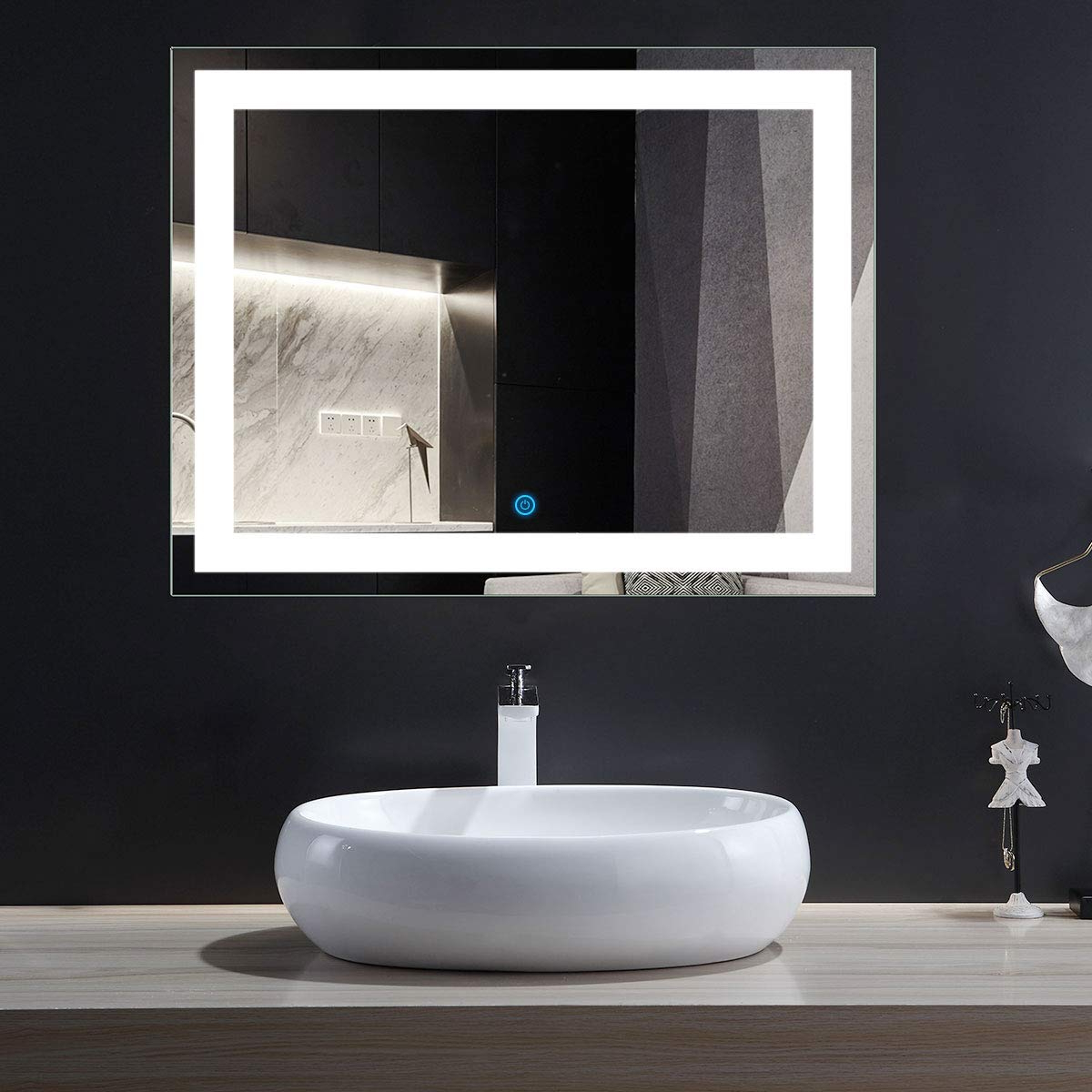 Newest Bathroom Vanity Wall Mirrors Within Dp Home Eco Friendly Lighted Bathroom/vanity Wall Mirror, Rectangle Illuminated Vanity Mirrors,36 X 28 In (e Ck010 I) (View 12 of 20)