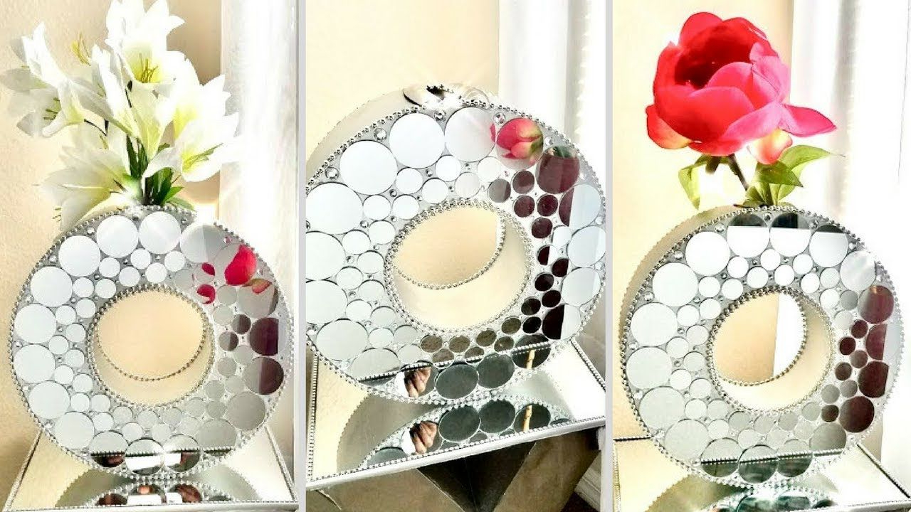 Newest Bruckdale Decorative Flower Accent Mirrors Within Videoyoduvh Essentials This Diy Round Mirror Vase Is Large And (View 15 of 20)