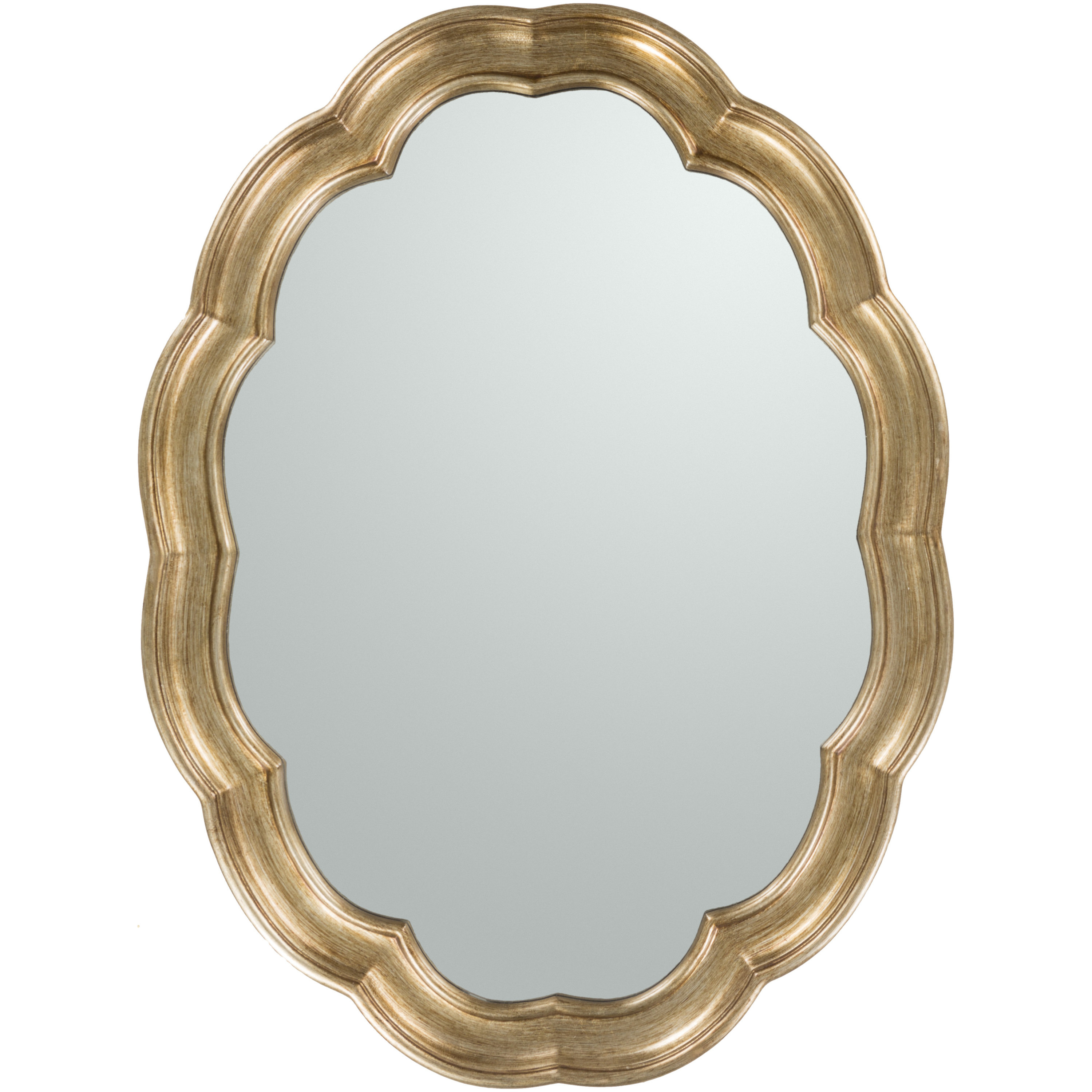 Newest Burnes Oval Traditional Wall Mirrors Intended For Glam Oval Accent Wall Mirror (View 9 of 20)