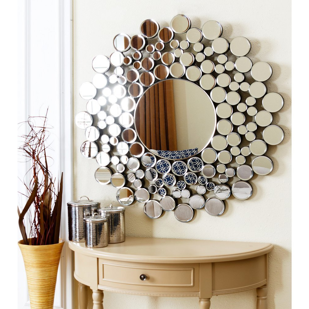 "Newest Buy Abbyson Living Lake Tm Gsc 8343 Mir 36"" Round Bubble Wall Mirror In Bubble Wall Mirrors (View 15 of 20)"