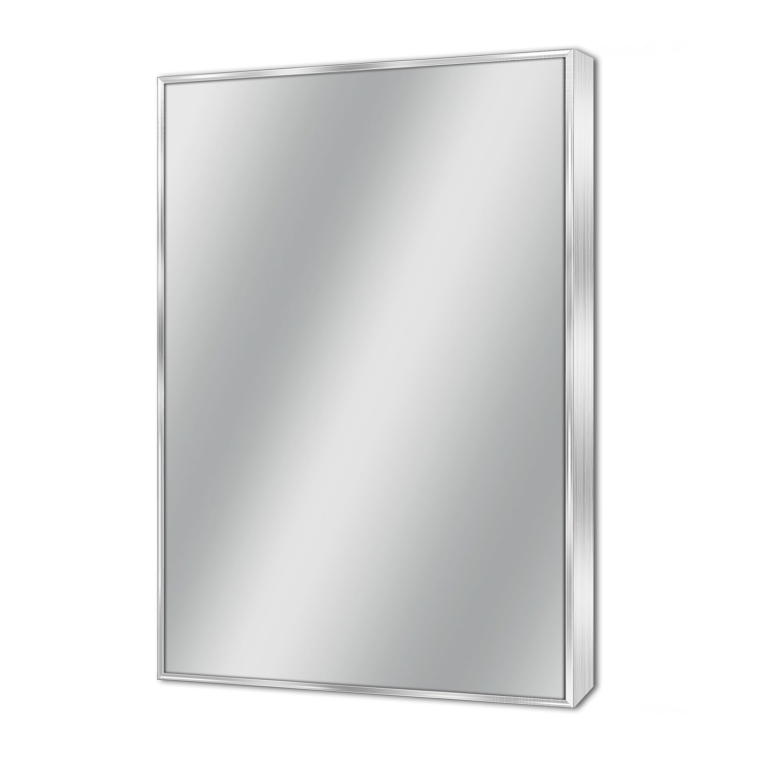 Newest Details About Headwest Spectrum Brush Nickel Wall Mirror – Brushed Nickel Inside Brushed Nickel Wall Mirrors For Bathroom (Gallery 13 of 20)