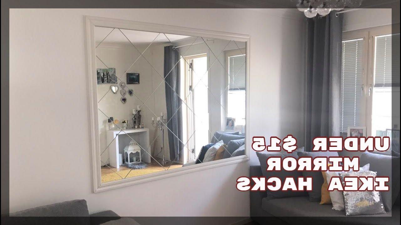 Newest Diy Wall Mirror, Ikea Hack, Diy Room Decor 2017 , Home Decoration Ideas On  A Budget Regarding Diy Wall Mirrors (View 15 of 20)