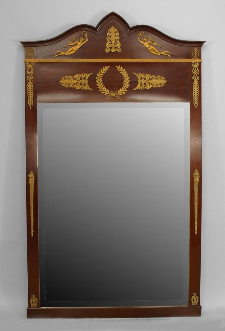 Newest French Empire Mirror Wall Mirror Mahogany (Gallery 8 of 20)
