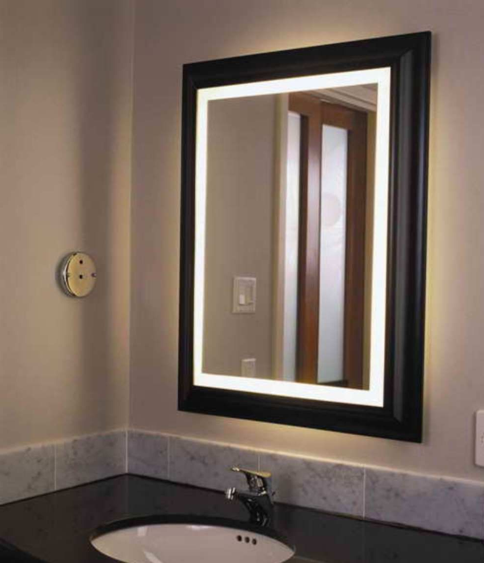 Newest Furniture , The Designs Of Bathroom Medicine Cabinets : Lighted For Lighted Bathroom Wall Mirrors (View 2 of 20)