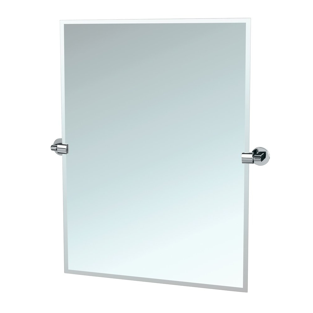 Newest Gatco 4119S Zone Tilting Wall Mirror, Satin Nickel Intended For Tilting Wall Mirrors (Gallery 3 of 20)