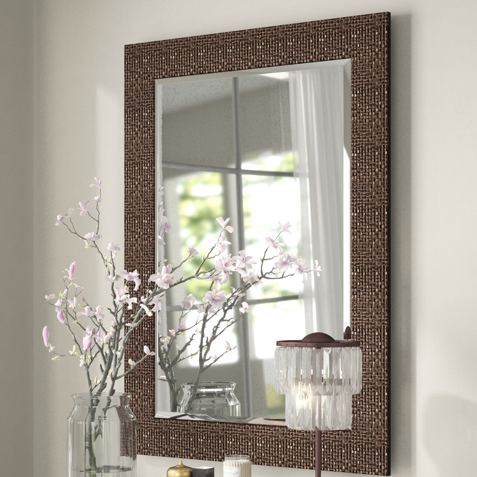 Newest Grid Accent Mirror Regarding Grid Accent Mirrors (Gallery 3 of 20)
