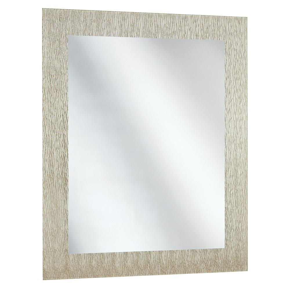 Newest Home Decorators Collection 23 In. X 28.5 In. Frameless Wall Mirror In Silver Inside Frameless Wall Mirrors (Gallery 8 of 20)
