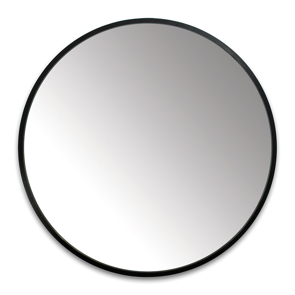 Newest Hub Round Wall Mirror – 94Cm – Black Pertaining To Black Round Wall Mirrors (Gallery 7 of 20)