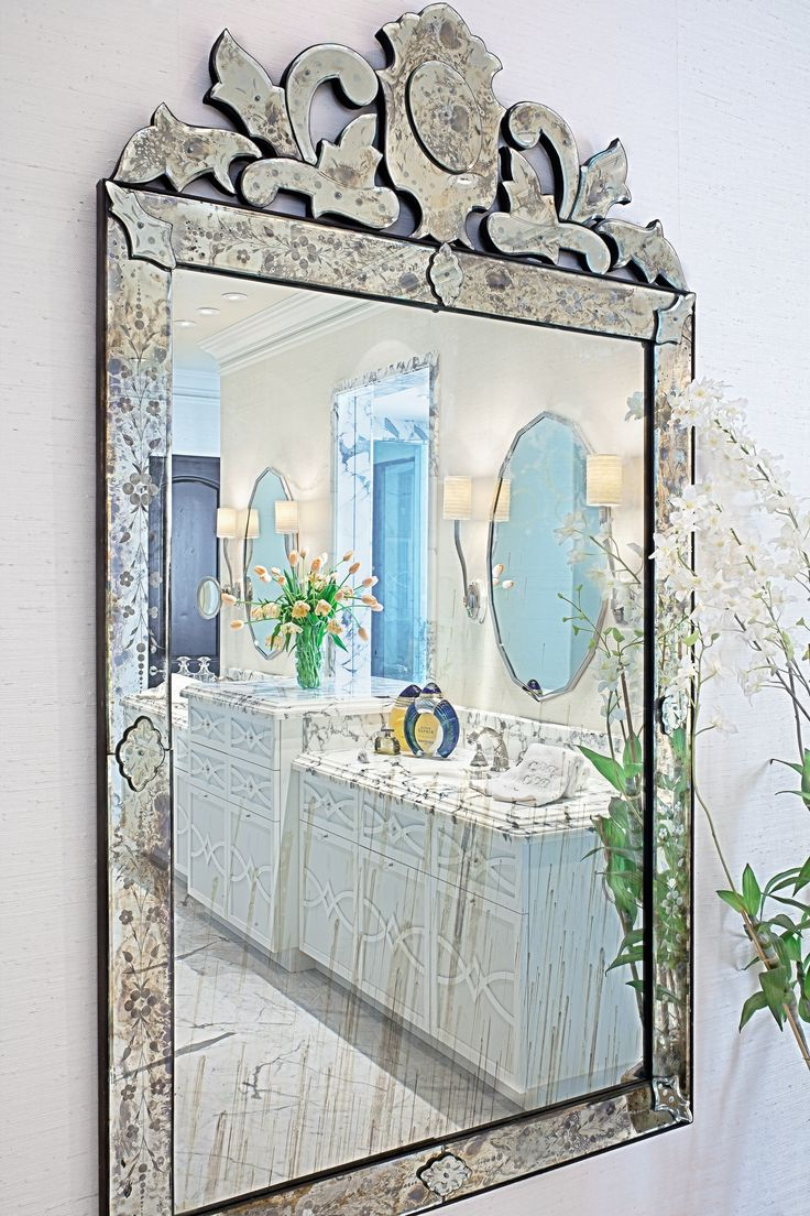 Newest Interior: Vintage Venetian Mirror For Classic Interior Decor Inside Large Venetian Wall Mirrors (View 9 of 20)