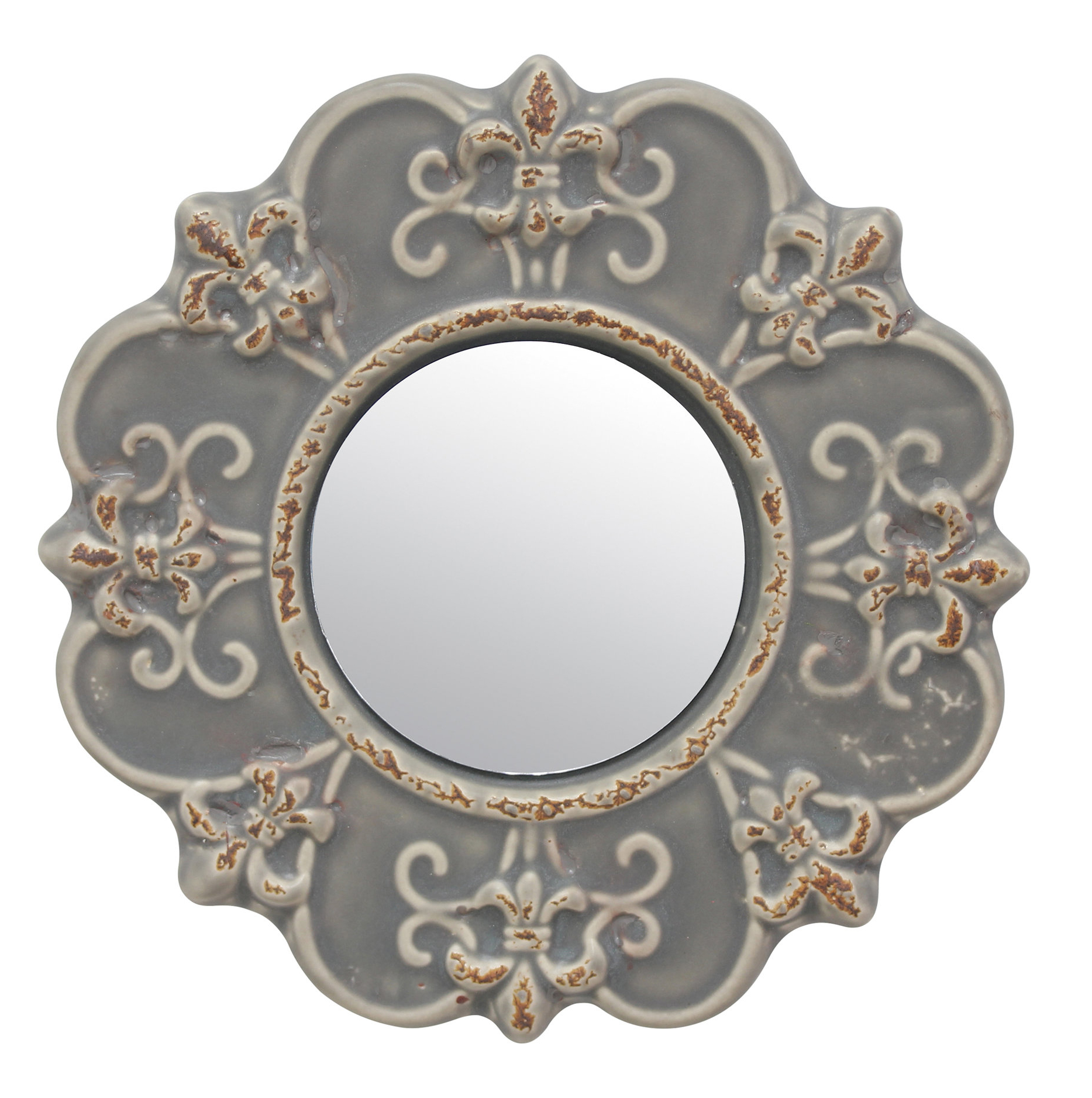 Newest Knott Modern & Contemporary Accent Mirrors Intended For Coulson Ceramic Accent Wall Mirror (Gallery 14 of 20)