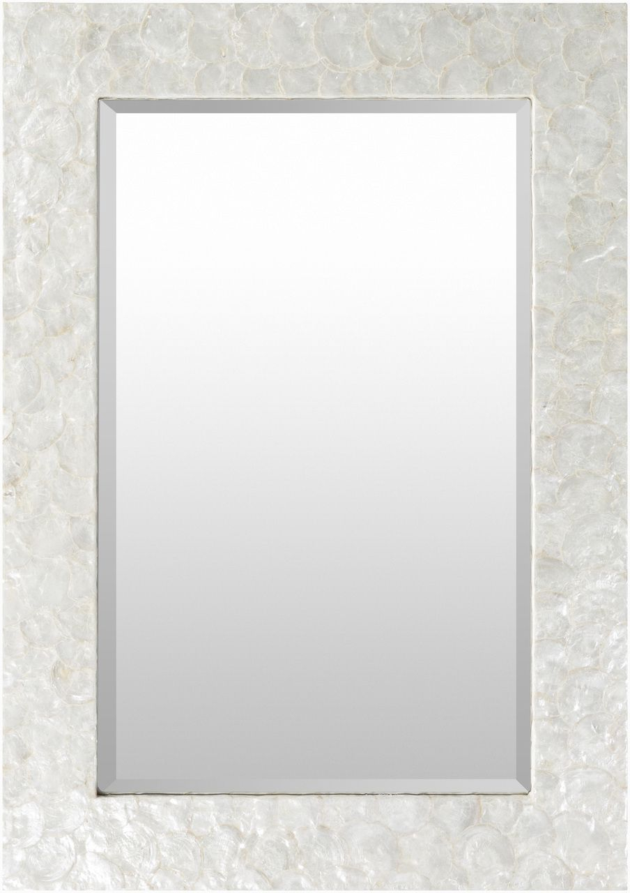 Newest Large White Framed Wall Mirrors With Large Capiz Shell Framed Mirror In (View 9 of 20)