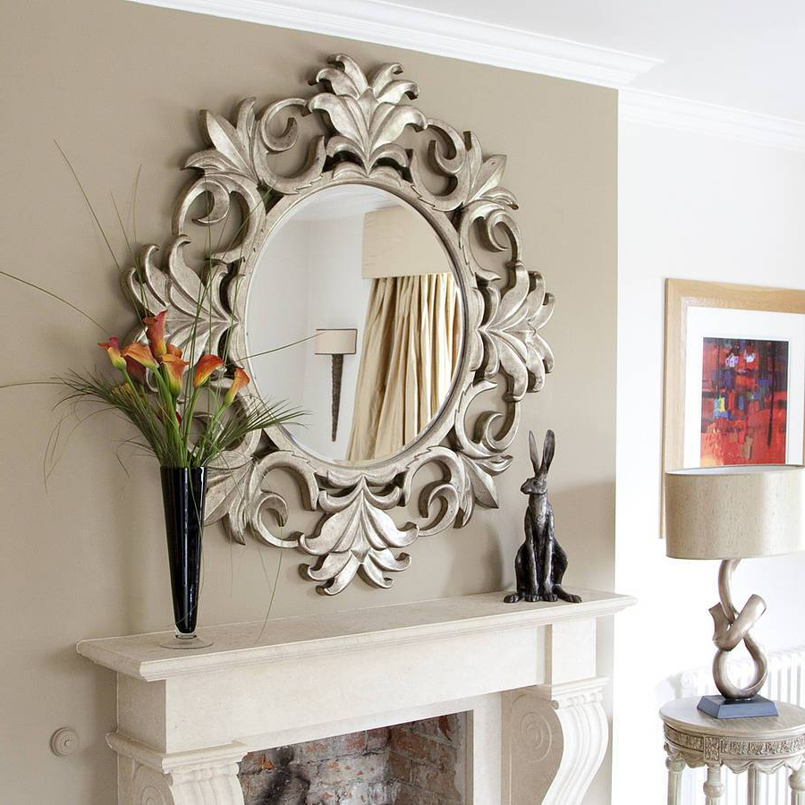 Newest Long Black Wall Mirrors With Regard To Wunderbar White Wall Mirrors Large Vanities Magnifying Cust (View 15 of 20)