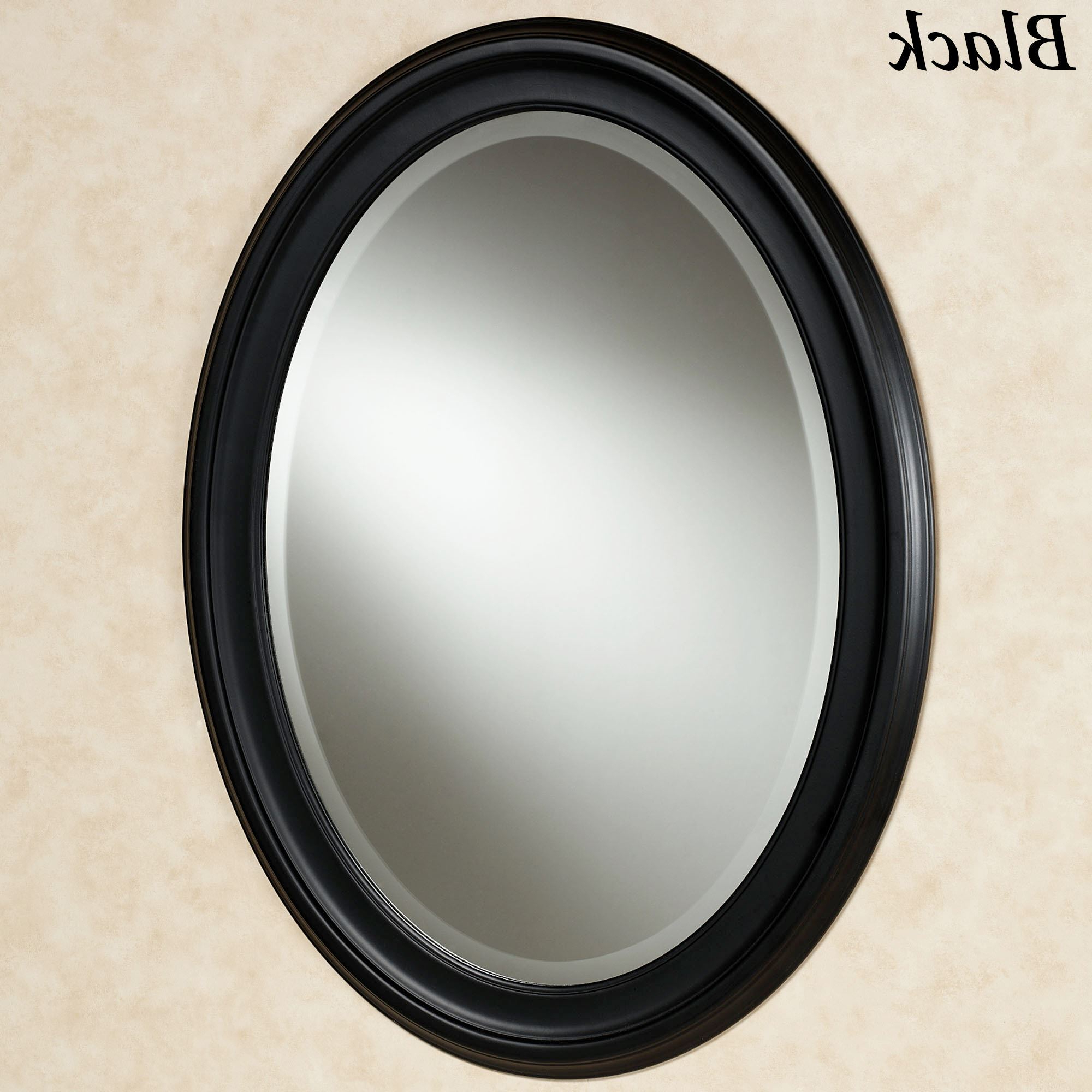 Newest Loree Black Oval Wall Mirror Inside Black Wall Mirrors (View 16 of 20)