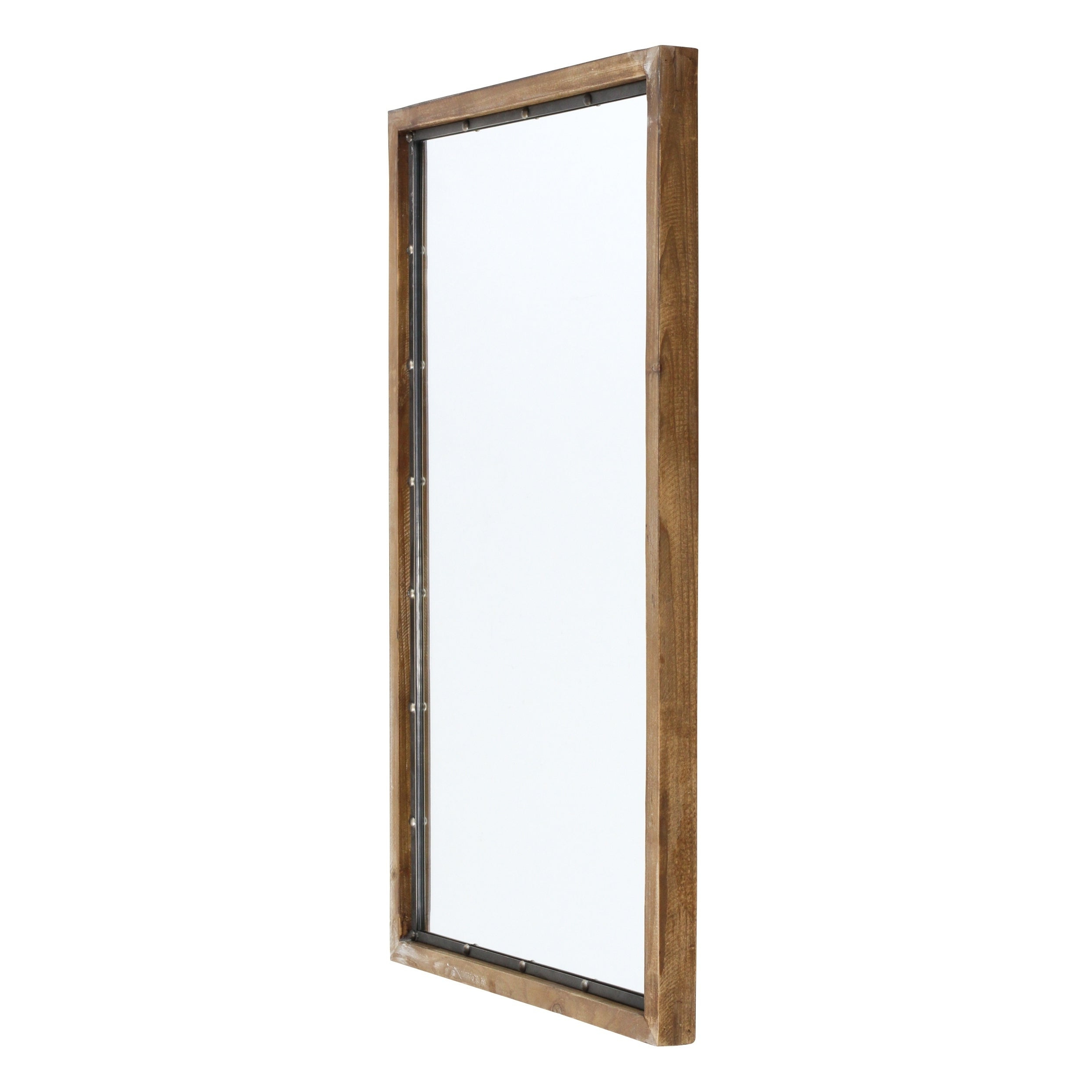 "Newest Marlon Rustic Wood Wall Mirror – Brown – 34""h X 21""w X (View 19 of 20)"