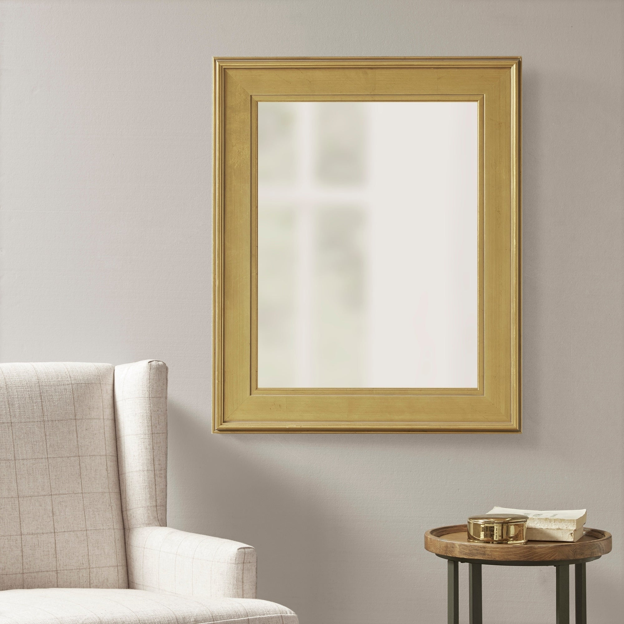 Newest Martha Stewart Westchester Antique Gold Rectangle Accent Mirror – Antique Gold Pertaining To Reba Accent Wall Mirrors (View 17 of 20)