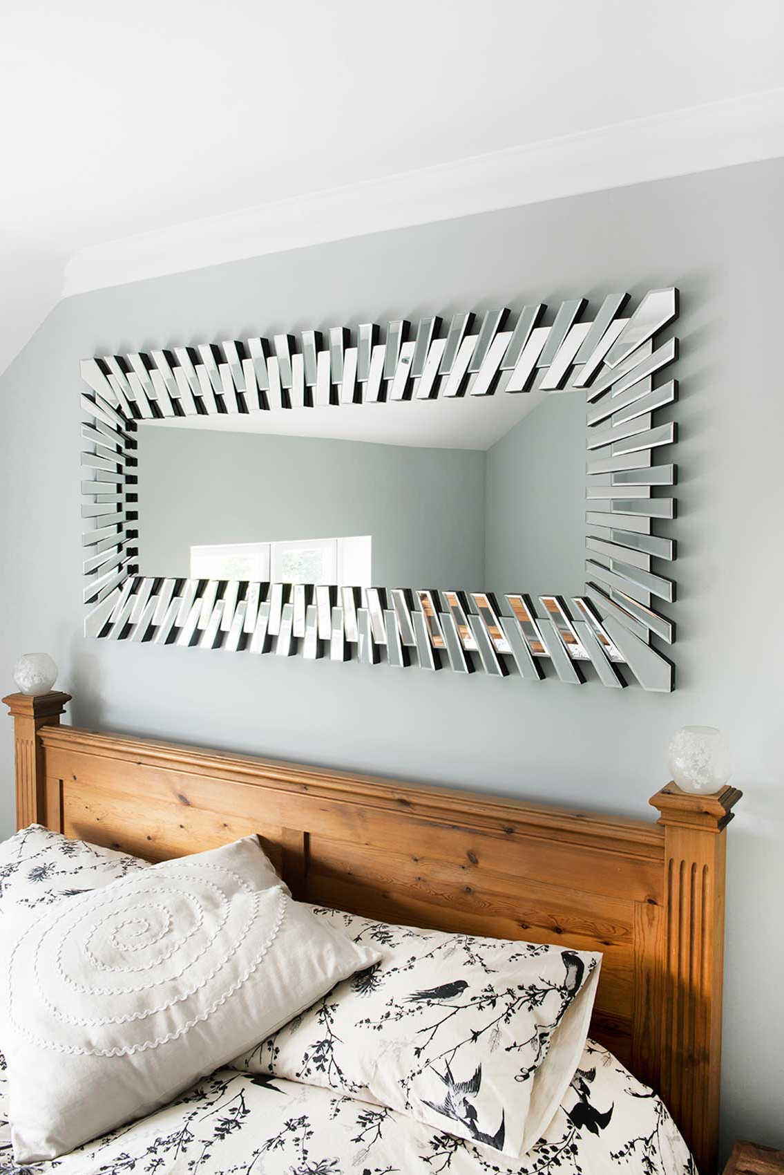 Newest Modern Rectangular Wall Mirrors Within Details About Extra Large Modern Unique 3d Sunburst All Glass Venetian  Rectangular Wall Mirror (View 4 of 20)