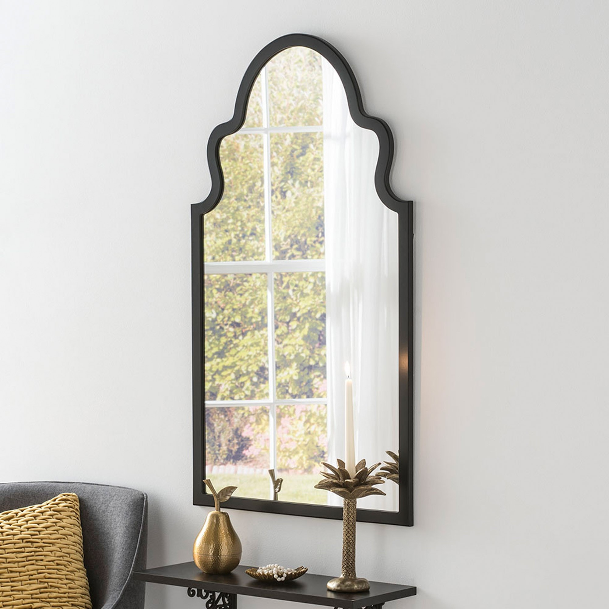 Newest Morocco Black Contemporary Wall Mirror With Regard To Moroccan Wall Mirrors (View 6 of 20)