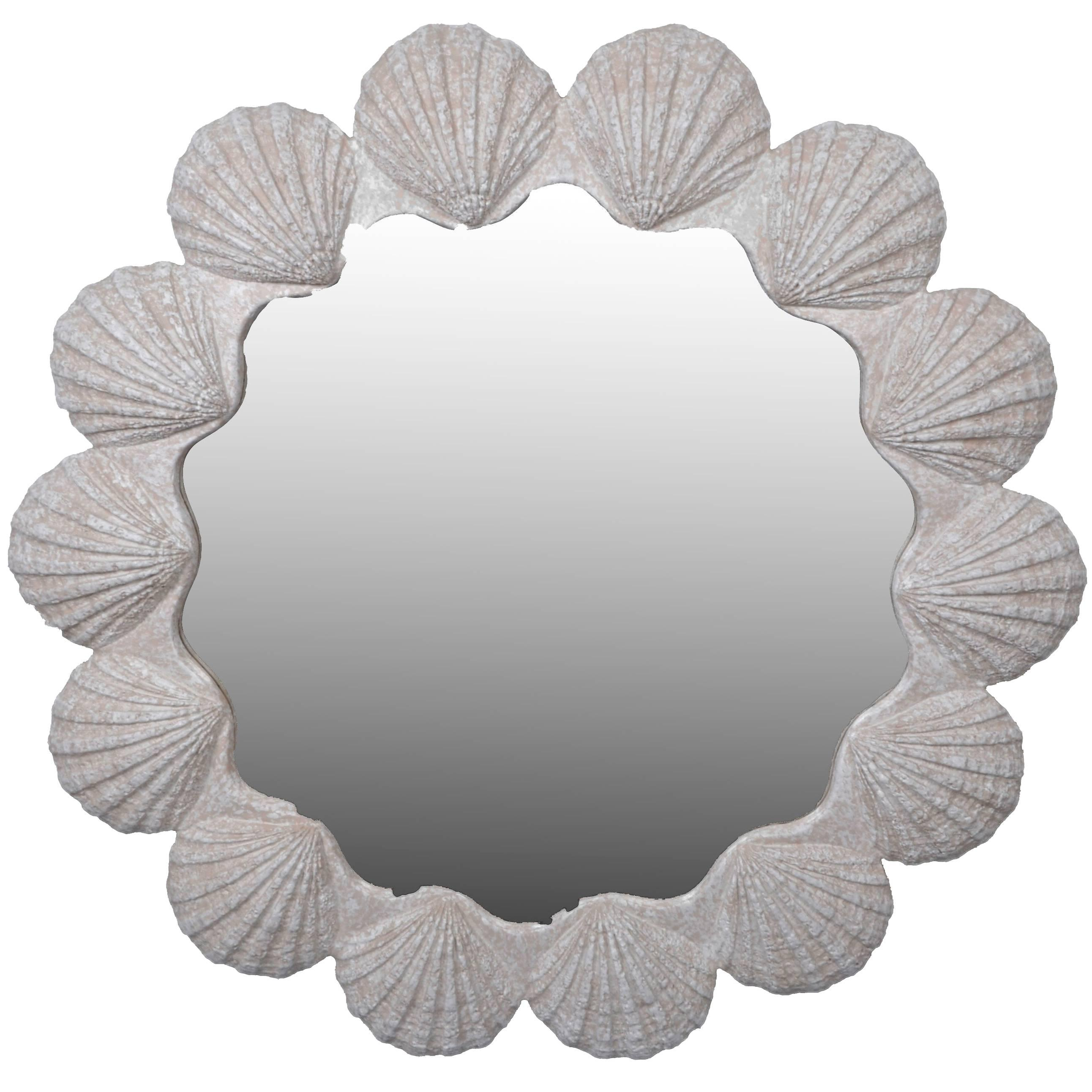 Newest Nautical Wall Mirrors Inside Modern Nautical Wall Mirror Shell Mirror (View 11 of 20)